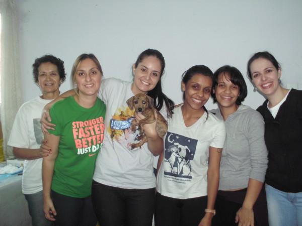 Célia, Sônia, Bruna, Andréia Duarte, Adriana Duarte e Juliana