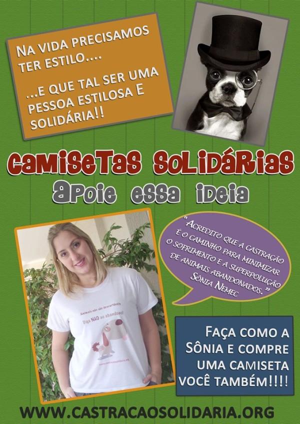 Campanha camisetas solidárias - Sônia
