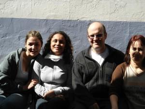 Voluntários: Priscila, Socorro, Angelo e Patricia