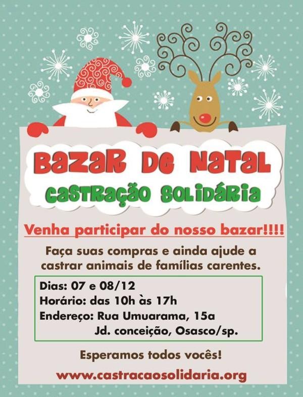 Convite bazar
